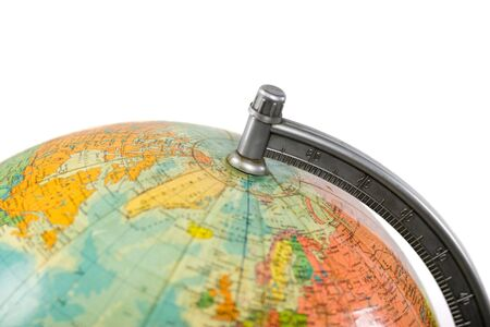 Earth terrestrial globe, old model, floor standing thing Stock Photo - 4481222