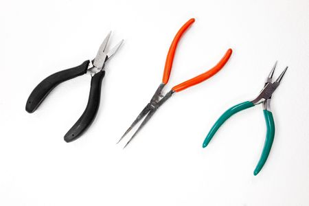 flat nose: tree pliers - flat nose, round nose and wire cutting pliers