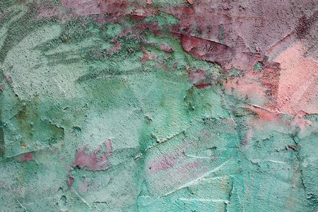 colored wall, paint plaster Detail on House wall, Background Image photo