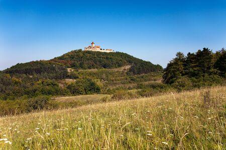 mounts: Veste Wachsenburg - Germany Castle Landscape with mounts in Fall Stock Photo