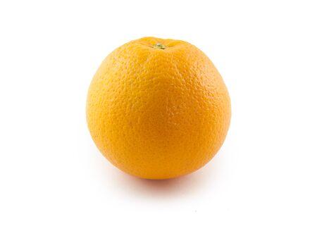bitter orange: an orange fruit in front of white background Stock Photo