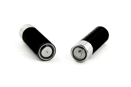 Positive and negative terminals of two batteries