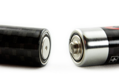 conduction: Positive and negative terminals of two batteries