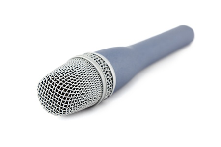 vocals: microphone vocals signal sound converter with white background