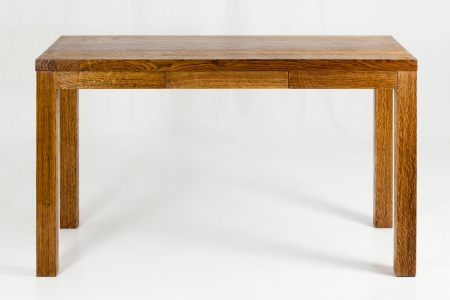 vintage furniture: wooden table - piece of furniture in front of white blackground