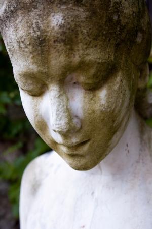eine historische Statue in der Villa Bergfried Saalfeld Standard-Bild