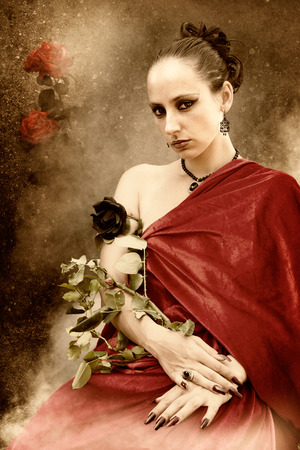 congeniality: a rose queen - a woman grows a rose plant on the arm