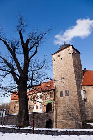 portal: The entrance portal of the moated castle Kapellendorf, Germany
