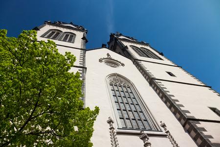 saxony: anicent St.Aegidien City Church Oschatz, Saxony, Germany Stock Photo