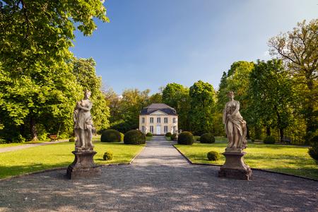 statuary garden: pavilion Sophie pleasure in the park palace Burgk in springtime Editorial