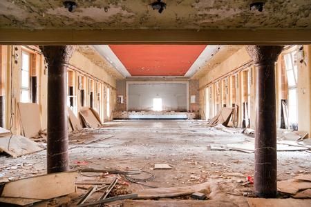 void: old leave deserted room, ancient building casern