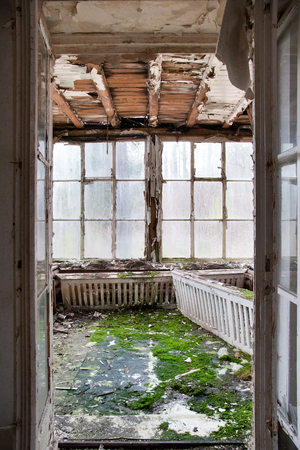 cruddy: old winter garden - derelict room with large windows