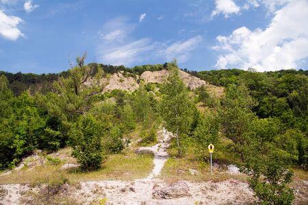 mountainscape: mount Dohlenstein, limestone rockface, germany