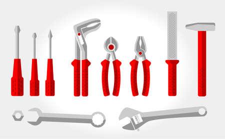 rasp: Set of tools for the repair Illustration