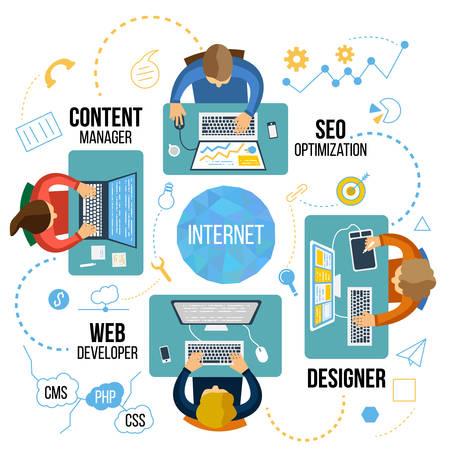 Seo technologie Stock Illustratie