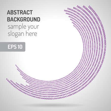 Digital code background, abstract  illustration. Binary computer code. Digital ring Illustration