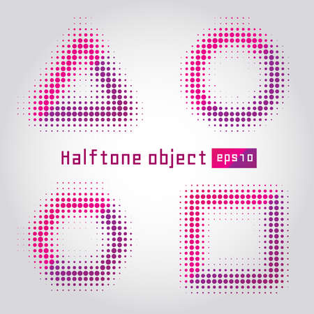 Abstract dotted background. Halftone effect. Halftone object Vector Illustration