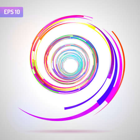 ellipse: Espiral abstracto sobre fondo blanco. Elemento de diseño para diseño gráfico. Volantes de fiesta. Presentación comercial. Carteles Ilustración