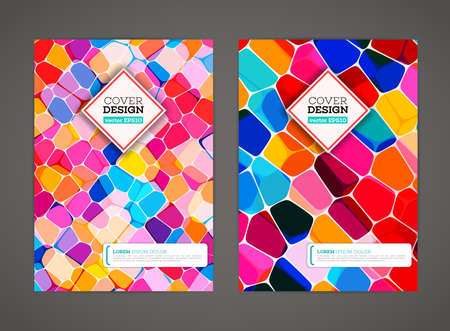 Abstract low polygonal colorful design background. Colored mosaic for background. Stained-glass mosaic. Flyer template. Brochure design template. Journal background design. Layout vector template. Illustration