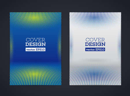 halftone cover: Abstract vector halftone dots design for flyer, business card, poster, banner, cover. Brochure template. Flyer design template. Beautiful design and layout. A4 size with halftone effects