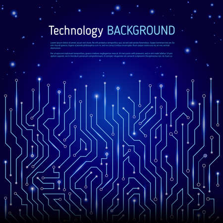 impulse: Technological vector background with a circuit board texture. Digital technologies abstract background Illustration