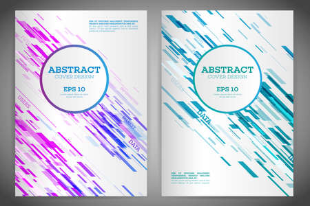 Technology Line Brochure Book Cover Template Layout. Abstract ...