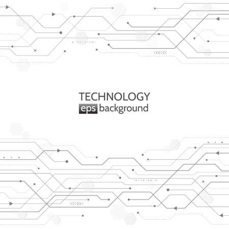 Leiterplattebeschaffenheit auf dem weißen Hintergrund. Abstrakte digitale moderne Konzeptart. High-Tech-Vektor-Illustration