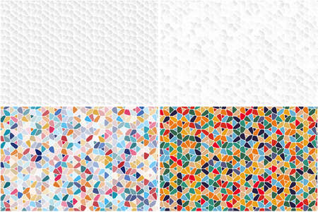 Set of grey and colorful patterns for your flyer, website and presentation. Abstract color and white mosaic background.