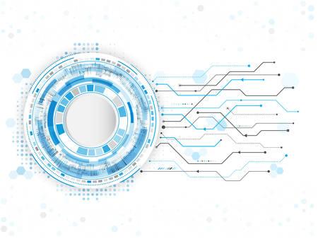 技術回路背景を抽象化します。ハイテク デジタル コンピューターの概念。未来的なベクター イラストです。esp 10