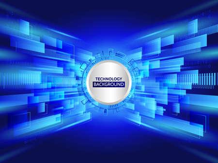 Abstract technology line background. Futuristic transferring information. Big data visualization. High tech vector illustration Illustration