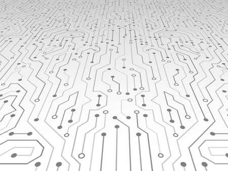 High-tech technology abstract background. Abstract 3D circuit board. Futuristic vector illustration. Çizim