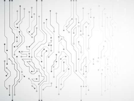 Textura de fondo de tecnología de alta tecnología. Ilustración de vector de placa de circuito.