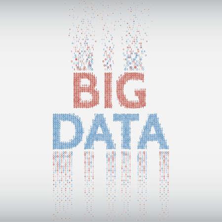 machine d & # 39 ; acquisition de l & # 39 ; ingénierie vecteur abstrait grande gamme de données avec le centre binaire de données . illustration vectorielle de