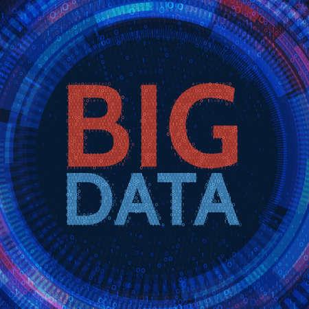 grand fond abstrait avec la machine de données algorithme de l & # 39 ; information de la présentation. concept de technologie de travail de données