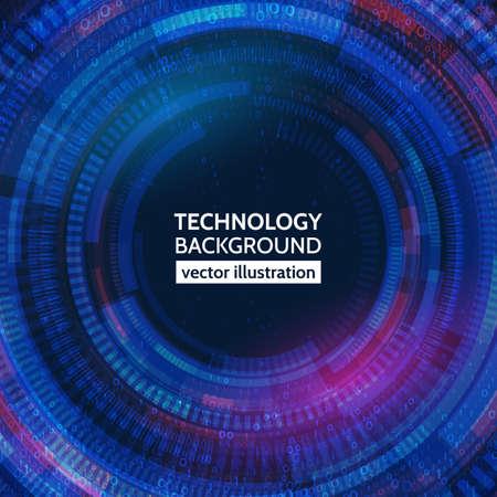 résumé technologie de la technologie sur le fond bleu
