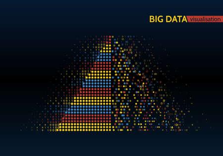 Visualisation de l'algorithme d'apprentissage coloré coloré big data machine.