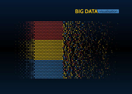 Visualisation de l'algorithme d'apprentissage coloré coloré big data machine. Banque d'images - 94310267