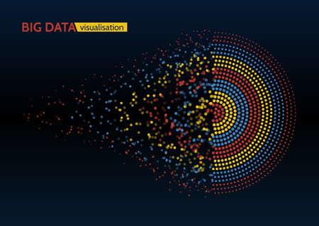 Abstracte kleurrijke big data machine learning algoritme visualisatie.