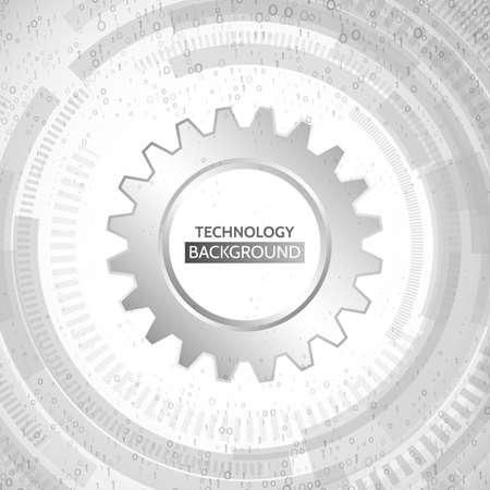 résumé technologie de la technologie sur le fond gris