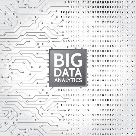 Fond de données abstraites avec code binaire. Circuit imprimé analyse de l'information de l'information. Visualisation d'algorithmes d'apprentissage automatique.