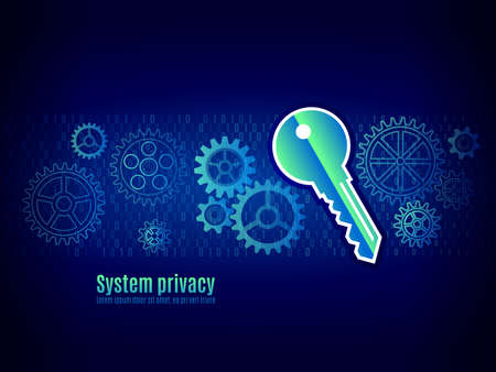 Authorization in the system. User authentication, data verification mechanism. Technology protection concept Illustration
