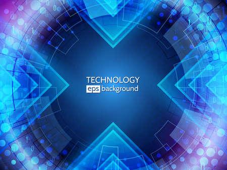 Fondo astratto di tecnologia. grande tunnel di dati. Concetto di comunicazione hi-tech