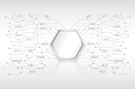 Modèle électronique de puce pour la technologie informatique, illustration informatique intégrée de la carte mère