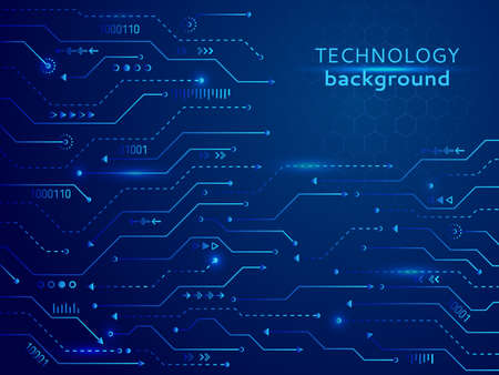 High-tech technology background texture. Circuit board vector illustration