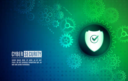 Cybersecurity for business and internet project. Data protection, privacy, and internet security concept. Vector illustration of a data security services.