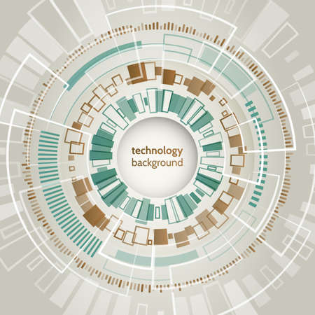 Abstract technology circles vector background. Futuristic object design. Vector science and technology illustration. HUD element. Illusztráció