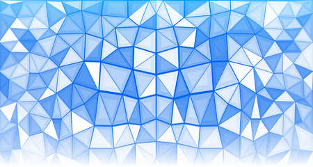 Abstract geometric background consisting of blue and white triangles Illusztráció