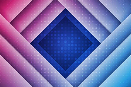 Abstract geometric background with rectangles and dots. Blue and red composition with geometric shapes. Retro cover design. Illusztráció
