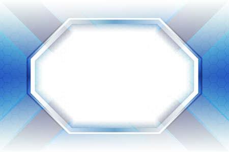 Abstract vector elegant white and blue geometric background. Hexagon texture vector illustration. Illusztráció