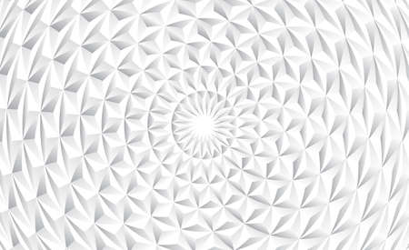Abstract gray and white gradient grid mosaic background. Creative design templates. Radial triangle retro background. Illusztráció